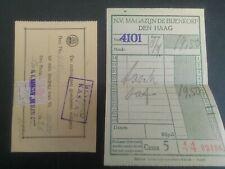 Nederland De Bijenkort kassabon met belastingzegel 1926