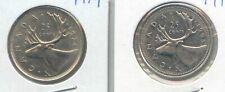 Canada 1974 1995 Canadian Quarter 25c Twenty-Five Cents Two Coins