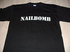 Vintage NAILBOMB T-Shirt X-Large XL 1994  Original Blue grape merch.