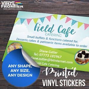 Full Colour Custom Printed Self Adhesive Vinyl Stickers