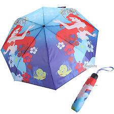 Disney The Ariel Little Mermaid Compact Rain Fold-Up Umbrella W/ wristlet NEW