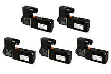 5x 110V AC Solenoid Air Pneumatic Control Valve 3 Port 3 Way 2 Position 1/4