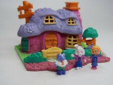Vintage 1994 Polly Pocket Bluebird Animal Wonderland Rabbit House Complete Nice