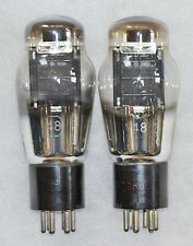 48 TYPE MATCHED PAIR TUBES RCA MARCONI RADIOTRON GREAT AMERICAN TUBE HISTORY