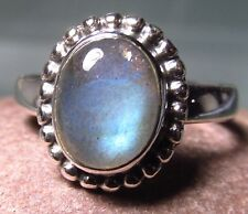 Sterling silver everyday labradorite ring uk m-m 1/4/6.5 us