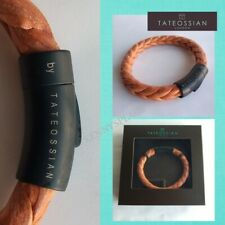 "TATEOSSIAN Braided Leather Bracelet RRP£120 (M) 18cm Tan Brown ""XMAS GIFT"""