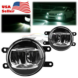 Pair 6000K LED Fog Light Clear Replacement Upgrade For 2009-2013 Toyota Venza T2