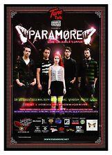 "PARAMORE ""LIVE IN KUALA LUMPUR"" 2010 CONCERT TOUR POSTER- Alt/Pop Rock, Pop Punk"