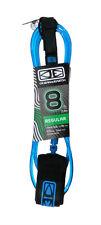 8ft Surfboard Leash, Ocean & Earth Surfboard Leg Leash, Quality Leash, Blue, New