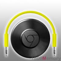 Google Chromecast Chrome Cast Audio Stream Music WiFi RCA Optical 3.5mm AUX