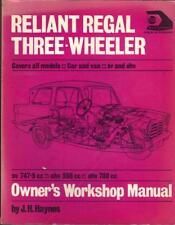 RELIANT REGAL,MK 3,4,5,6,VAN,3/25,DE LUXE,3/30,SUPERVAN HAYNES MANUAL 1956-1973