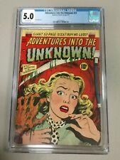 ADVENTURES INTO THE UNKNOWN 22 CGC 5.0 1951 precode horror