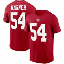 San Francisco 49ers Fred Warner Name & Number Shirt NFL Football Red Cotton Tee