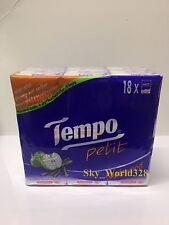 Tempo Pitit Applewood Pocket Tissues x 1 pack (18 bag) 7 x 4ply