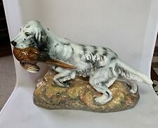 Vtg Large Royal Doulton Bone China Figurine English Setter Dog Pheasant Hn 2529