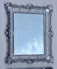 Bilderrahmen Silber barock 56x46 Fotorahmen Antik Rahmen 30x40 mit Glas