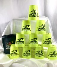 Set of 12 WSSA Speed Stacks Translucent Glow in the Dark Green Cups with Bag EUC