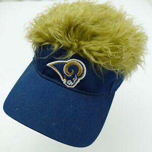 Los Angeles Rams Football Fuzzy Hair Ball Cap Hat Adjustable Baseball