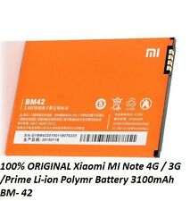 100% ORIGINAL Xiaomi MI Note 4G / 3G /Prime Li-ion Polymr Battery 3100mAh BM- 42