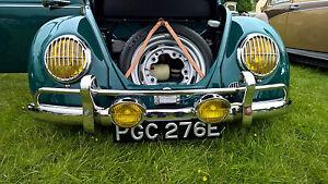 Headlight Grilles for VW Beetle Porsche 356 Splitscreen STAINLESS grills AAC001