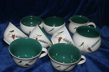 Stoneware British 1960-1979 Pottery Cups & Saucers