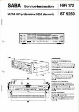 Service Manual-Anleitung für Saba Ultra HiFi professional 9250