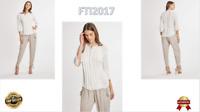 NWT Elie Tahari Crysta Silk Pleated Embroidered  Sleeve White Blouse Top -M