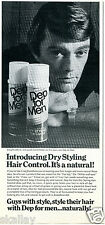 1970 Print Ad of Dep for Men Hair Spray with Craig Breedlove