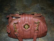 JESSICA SIMPSON QUILTED DOME SHOULDER BAG ~ FAUX LEATHER IN COGNAC COLORING