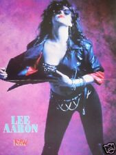 LEE AARON ' revealing' Centerfold magazine POSTER  17x11 inches