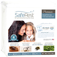 SafeRest Premium Zippered Mattress Encasement - Lab Tested Bed Bug Proof, Dust