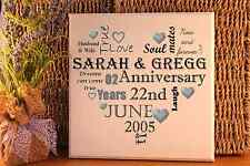personalised Typography 10th 25th 50th ANY wedding anniversary plaque sign gift