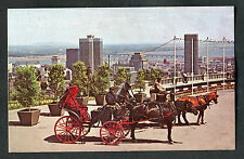Posted 1968: French Horsedrawn Carriages, Mount Royal, Montreal, Canada