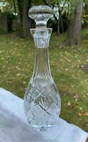 Waterford Crystal Decanter Giftware with Stopper Diamond Fan Vertical Cuts