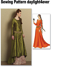 Women Renaissance Medieval Dress Gown Train Sewing Pattern 4827 Costume 14-20 #i