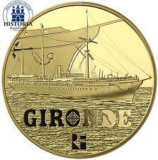 Frankreich 50 Euro Goldmünze 2015 PP Schifffahrt Serie Ozeandampfer La Gironde