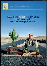 cartolina pubblicitaria PROMOCARD n.596 RENAULT CLIO VITAMINIC AUTOMOBILE