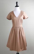 PAUL & JOE Sister $375 Khaki Darling A-Line V-Neck Shirred Tea Dress Size 40