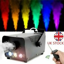 More details for led 500w smoke machine fog mist effect colorful stage light party show remote uk
