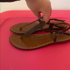 SAM EDELMAN SOLID BROWN FLAT SHOES SIZE 8.5