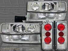 1995-2005 CHEVY ASTRO VAN HEADLIGHTS +BUMPER SIGNAL + CLEAR TAIL LIGHTS