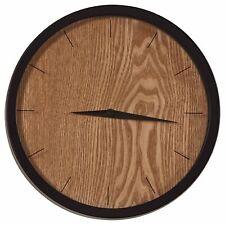 "Rivet Modern Minamalist Wood-Face Clock, 12""H, Natural"