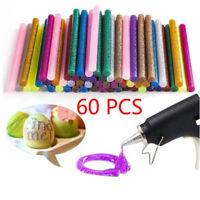 60pcspack Multi color glitter hot glue sticks non-toxic high adhesive sti mi
