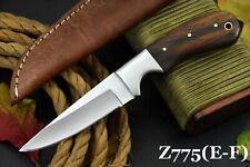 Custom Ball Bearing 52100 Steel Hunting Knife Handmade, No Damascus (Z775-E)