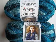 Red Heart Boutique Sashay ruffle mesh yarn, Jive, lot of 2 (30 yds each)