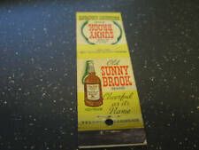 Old Sunny Brook Straight Bourbon Whiskey Matchbook