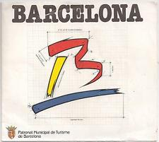 Barcelona City Map - from 1988 -  rare!