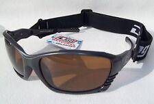 da45565969b Dirty Dog Polarised Sunglasses WETGLASSES Metallic Grey Sports Strap  Watersports