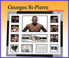GEORGES ST PIERRE UFC MEMORABILIA LIMITED TO 499 COA