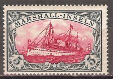 1901 German colonies Marshall Islands 5 Mark mint**, Mi # 25, signed, $ 765.00